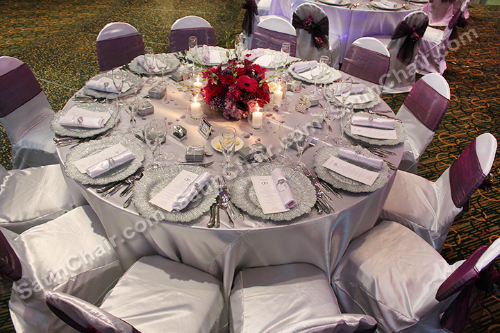 rent tablecloths and chair covers accent with ottoman linens – naperville oak brook lombard downers grove chicago west suburbs | event decor by ...