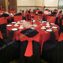 Tablecloths And Chair Covers For Rent Target Eddie Bauer High Red Black Linens Banquet Hall Cover Rental Chicago West Suburbs
