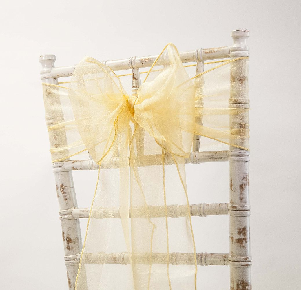 Yellow Chair Covers Organza Sash 20cm X 275cm Yellow Chair Covers Of Yorkshire