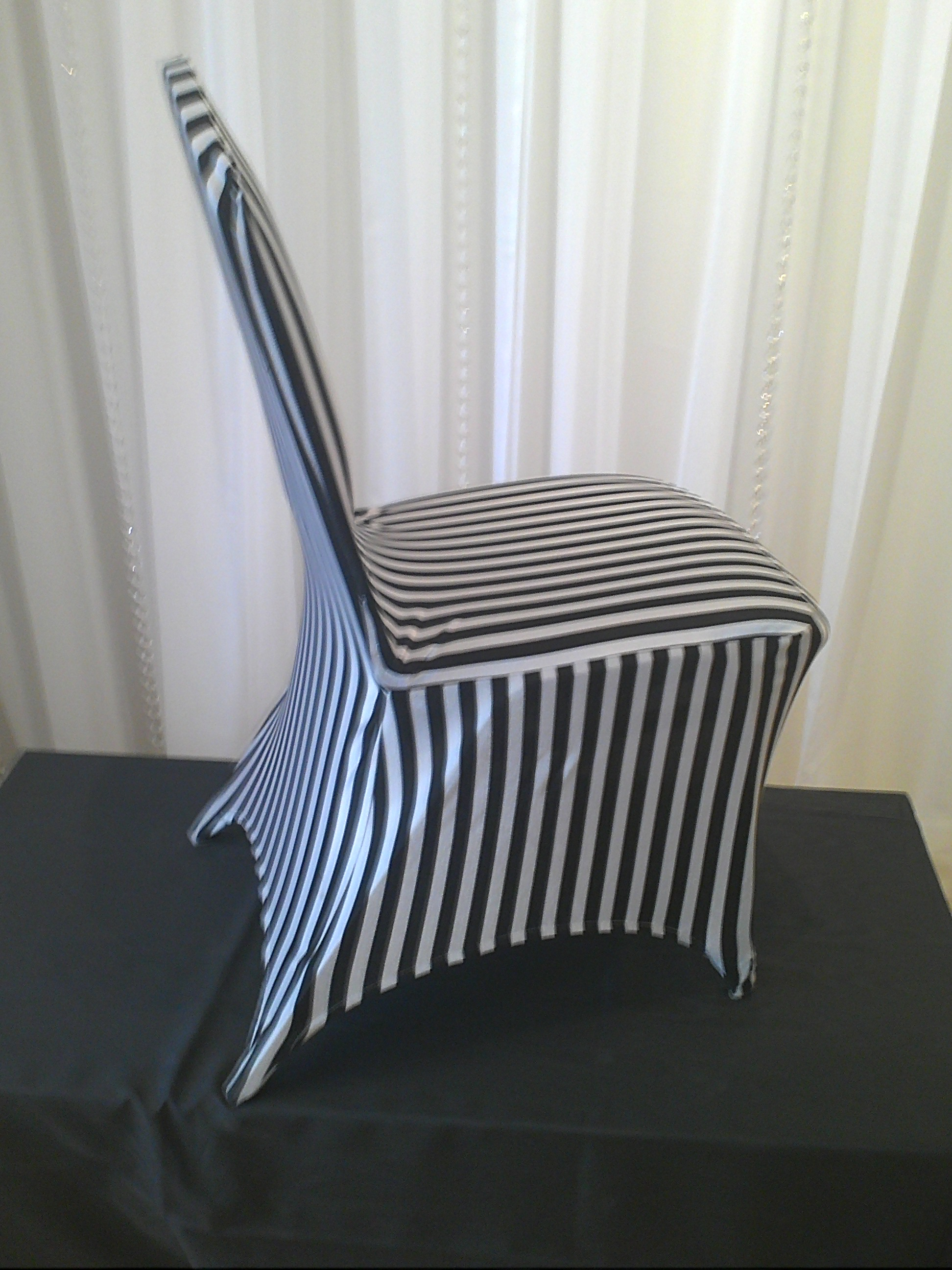 Stretching Chair Chair Decor Black And White Stripe Stretch Chair Cover