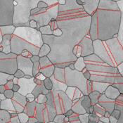 Macles dans une microstructure d'Udimet 702