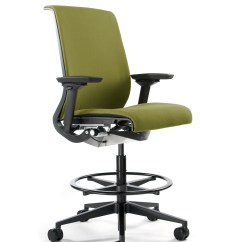 Office Chair Leans Forward Recliner Leather Steelcase Think Stool