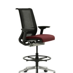 Desk Chair Leans Forward Massage Chairs Costco Steelcase Think Office Stool
