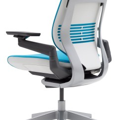 Light Blue Desk Chair Stackable Resin Wicker Chairs Steelcase Gesture Office