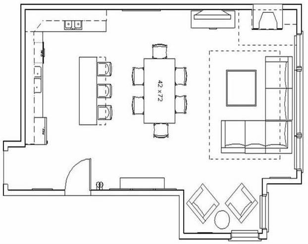 Living Room Plan Design