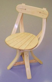No.1 chair clear finish
