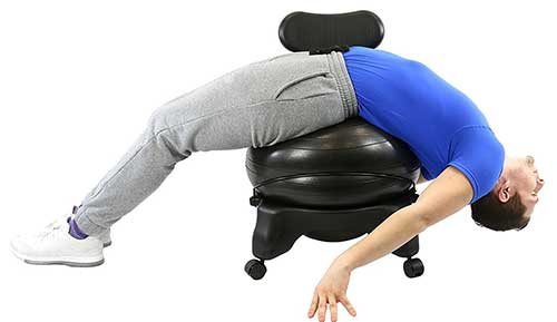 ball chair for office big daddy adirondack cando review buyer s guide 2019 an image sample of yoga exercise using metal