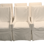 Slipcovered Dining Arm Chairs Set Of 6 Chairish