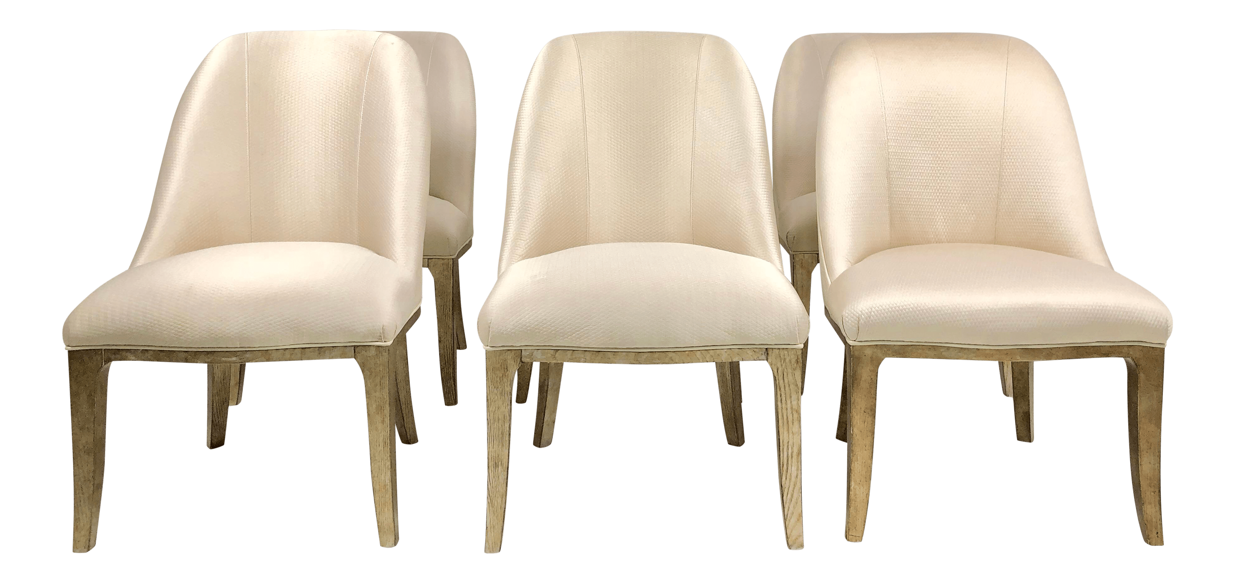 cream upholstered dining chairs recliner office chair singapore contemporary champagne set of 6 chairish