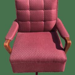 Maroon Office Chairs Reclining Gaming Chair Mid Century Swivel Chairish