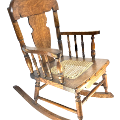 Children Rocking Chairs Upholstering A Chair Tiger Oak Childrens Cane Seat 1890 1920 Chairish
