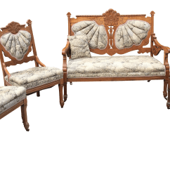 Eastlake Victorian Parlor Chairs Medical Chair Lift Settee Armchair And Armless Set