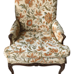 Floral Upholstered Chair Square Table With 8 Chairs French Chairish
