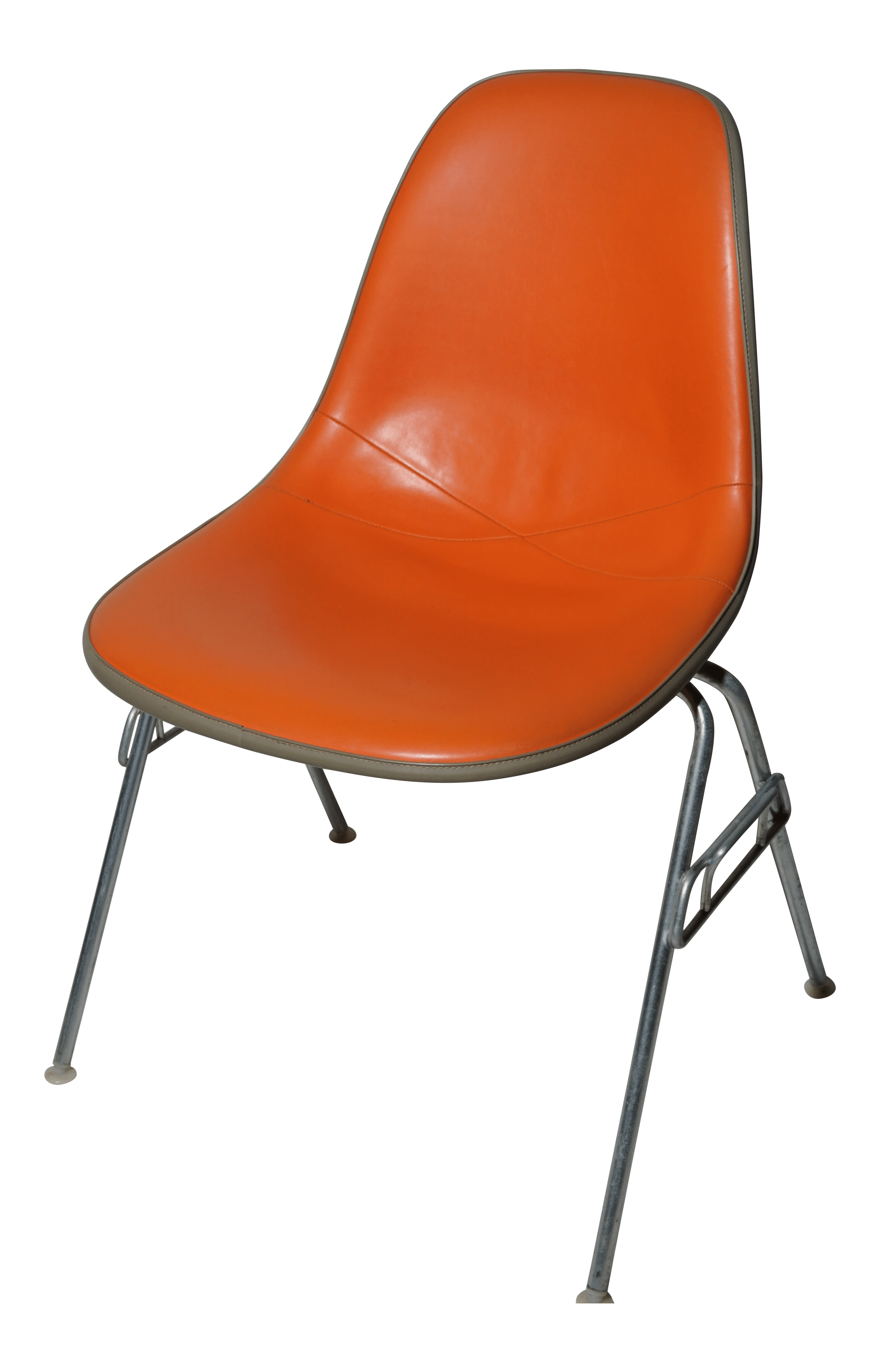 herman miller chairs vintage posture pad for chair eames dss orange chairish