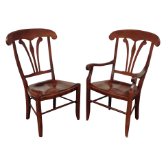 Nichols And Stone Dining Chairs Foam Chair Bed Country Manor Set Of 10 Chairish