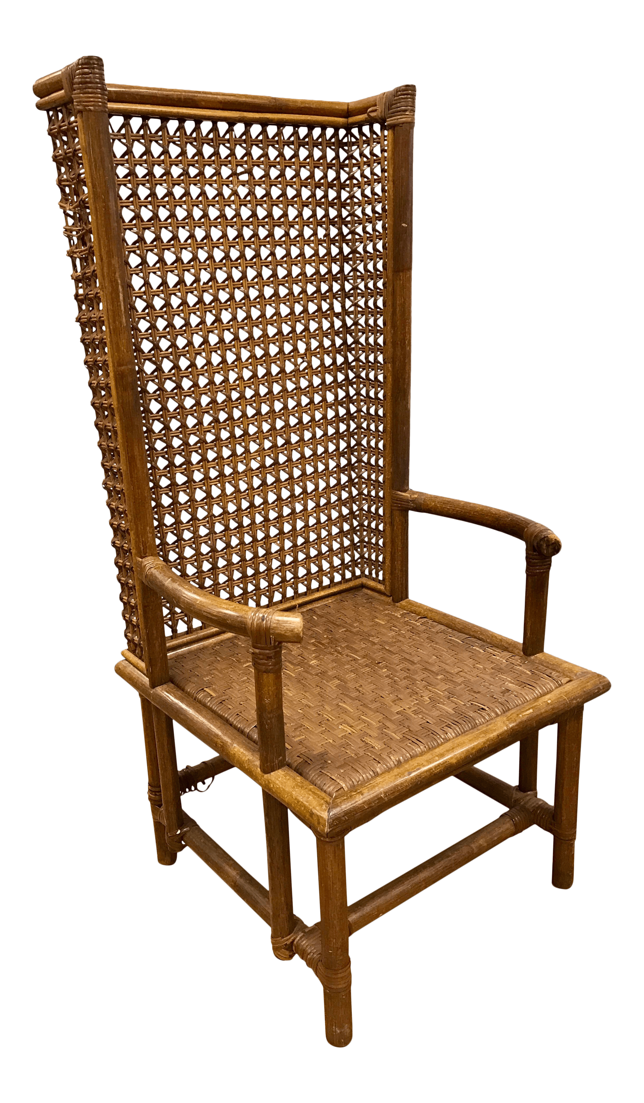 rattan wingback chairs lifetime plastic chair parts mid century chairish