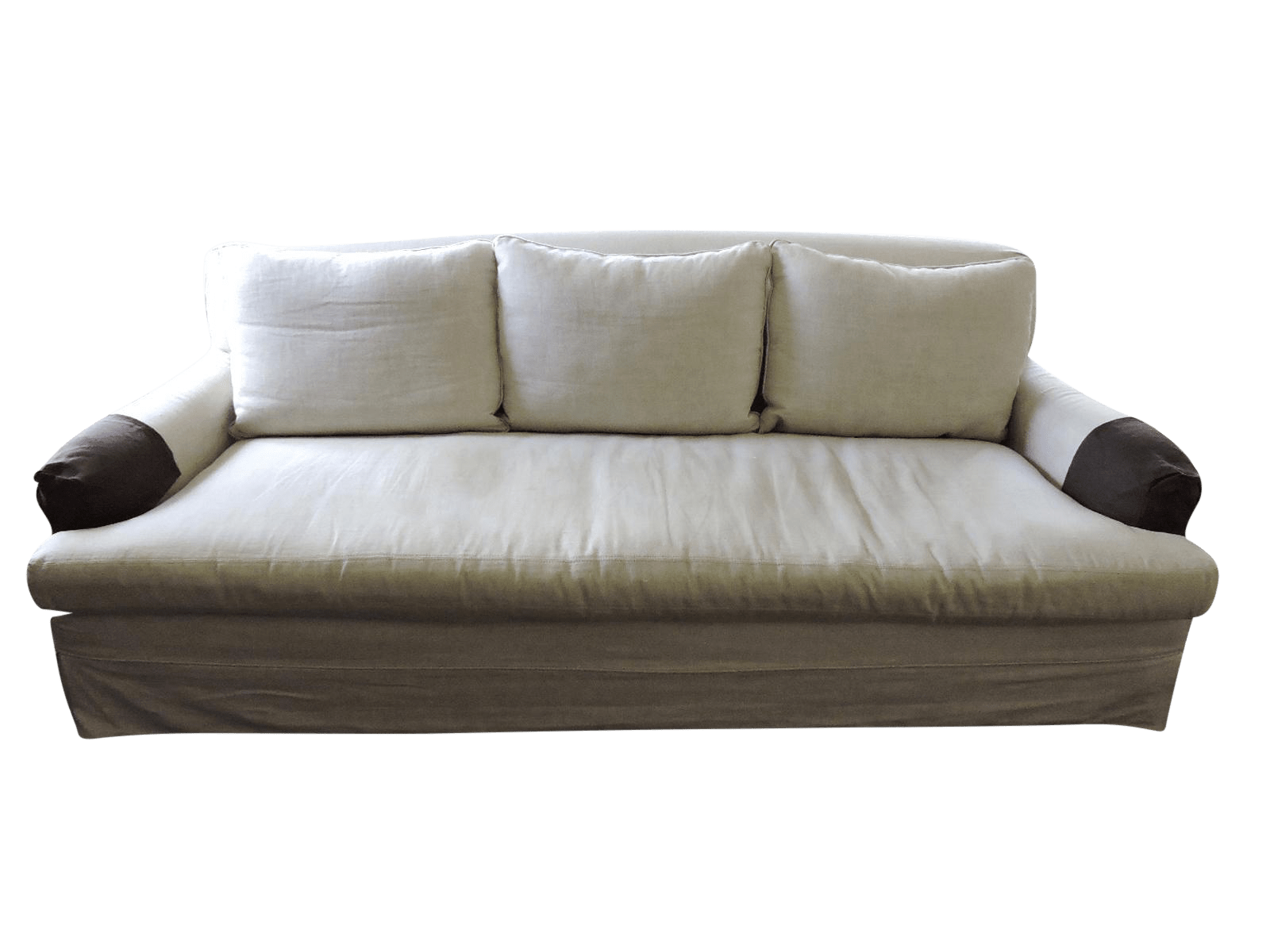 restoration hardware sectional sofa linen extra firm bed 3 seat quotbelgium quot chairish