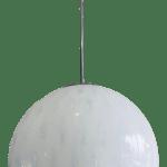 Italian Cased Murano Glass Blue And White Globe Pendant Light Fixture Chairish