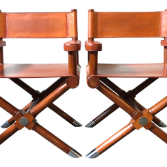 Leather Directors Chair Antique Youth Ralph Lauren Home Modern Hollywood Director S Chairs A Pair Chairish