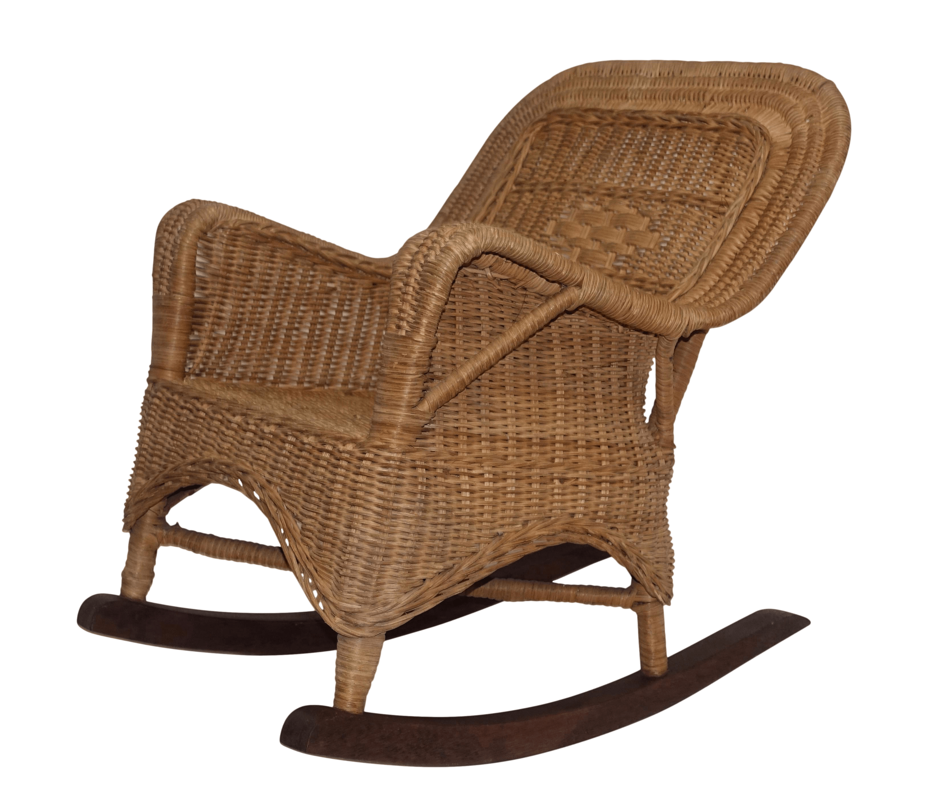 Wicker Rocking Chair Victorian Child Size Wicker Rocking Chair American 19th Century