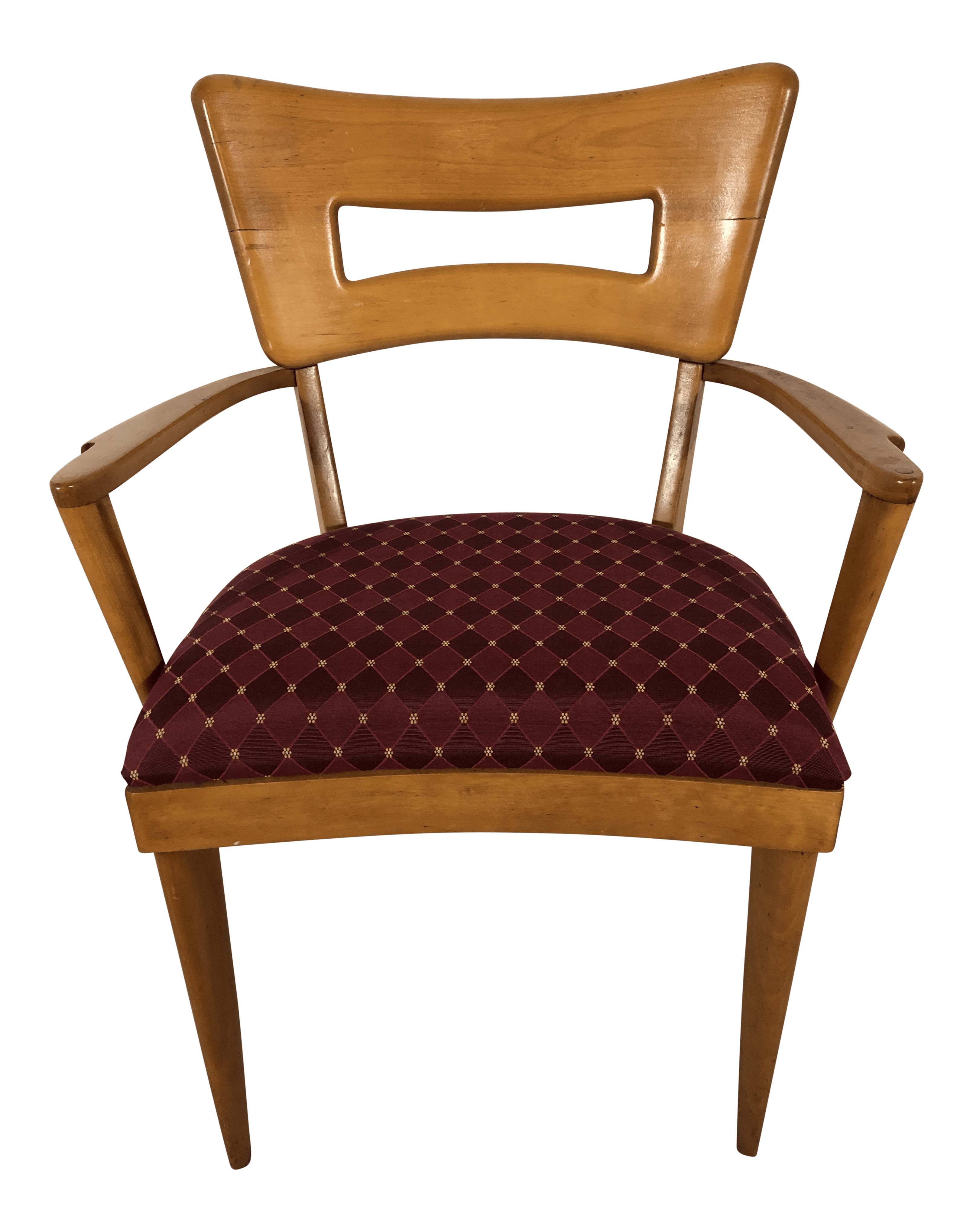 heywood wakefield dogbone chairs cast iron chair and table set arm vintage 1970s chairish