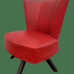 Swivel Chair Ireland Wedding Cover Rentals Edmonton Mid Century Red Chairish