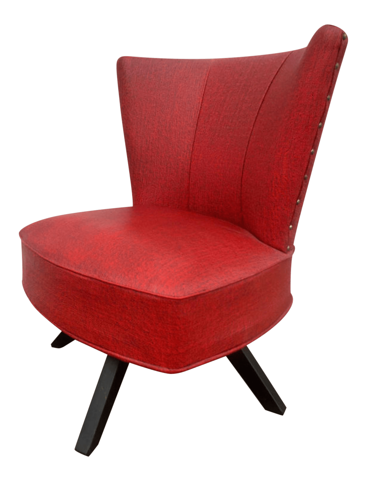 Red Swivel Chair Mid Century Red Swivel Chair Chairish