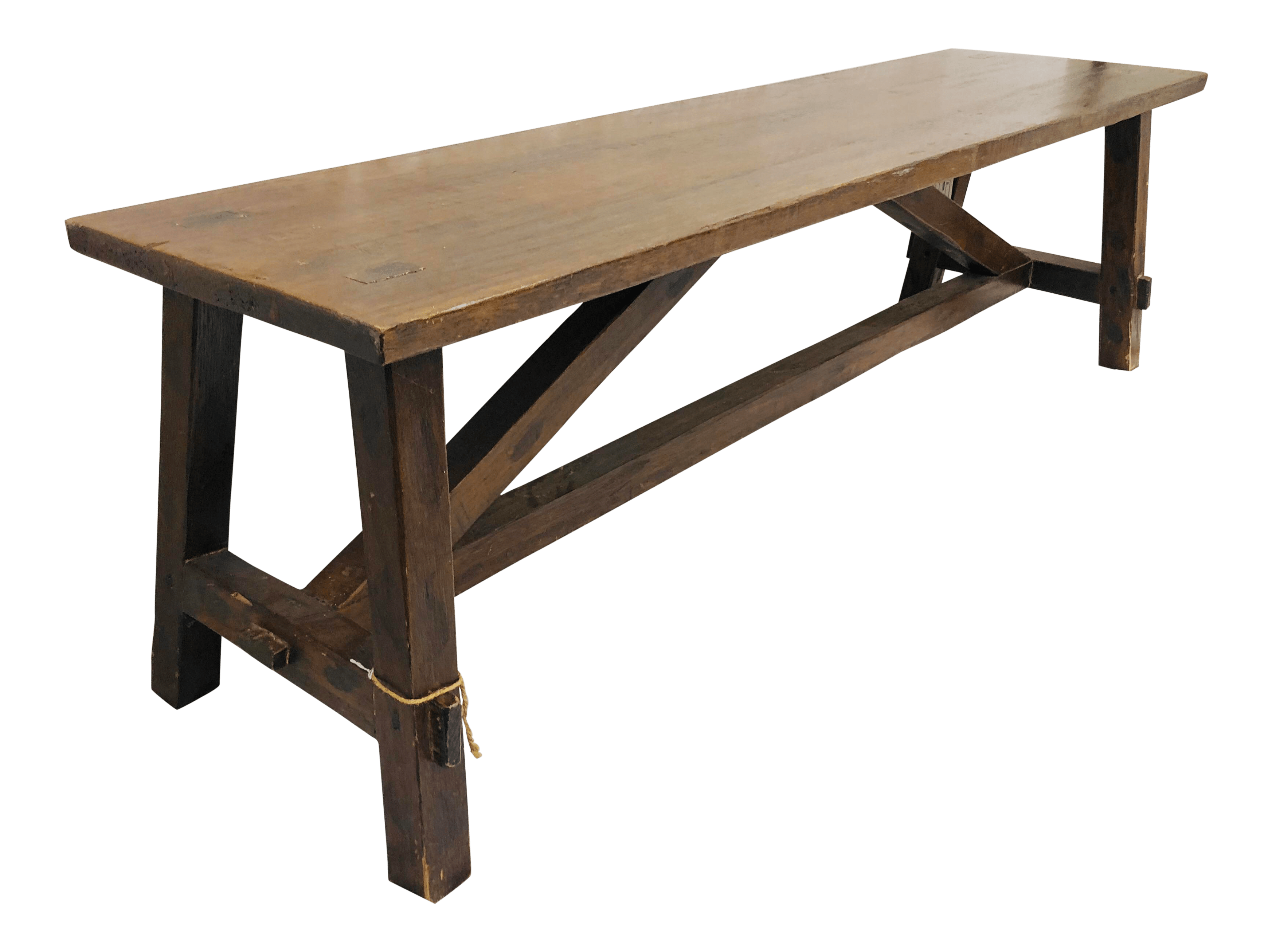 antique wooden bench table