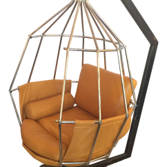 Hanging Chair Ireland Faux Leather Paint Arberg Birdcage Chairish