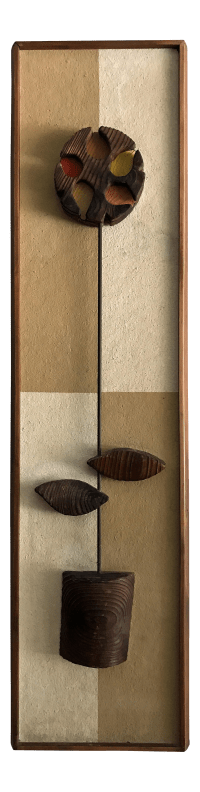 Witco Mid-Century Modern Abstract Flower Wall Sculpture ...