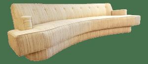 Mid Century Modern Harvey Probber Custom Curved Sofa