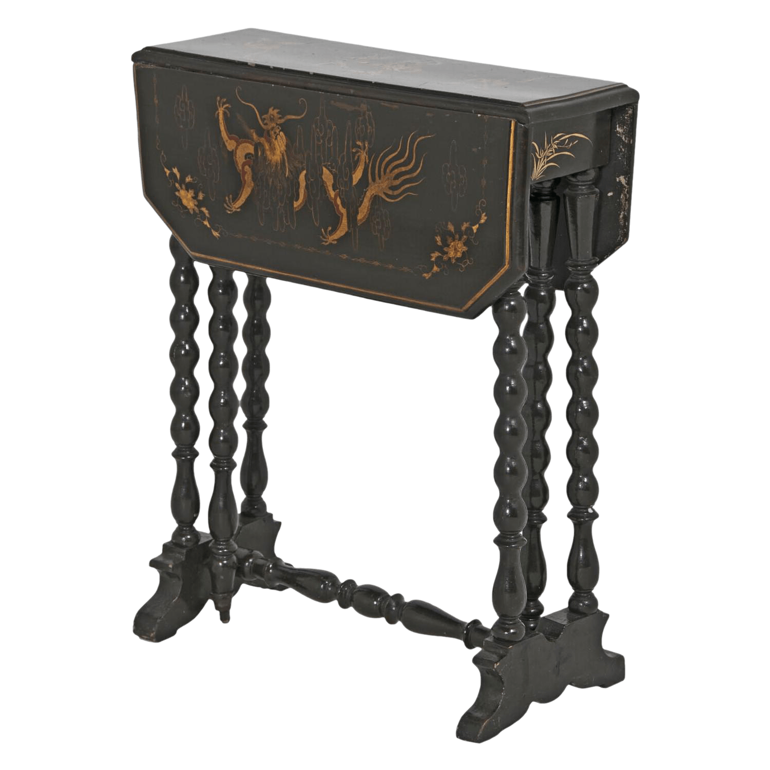 Victorian English Chinoiserie Sunderland Side Table