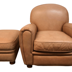 Bernhardt Brown Leather Club Chair Office On Amazon And Ottoman Chairish