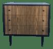 Mid Century Modern Three Drawer Dresser By Kent Coffey Chairish