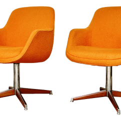Steelcase Vintage Chair Rocking Camp Swivel Chairs Pair Chairish