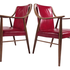 Leather Side Chair Swing Patio Furniture Pair Of Vintage Chairs After Peter Hvidt Chairish
