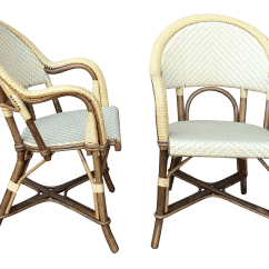 French Cafe Chairs High Back Swivel Modern Authentic Maison J Gatti Bistro A Pair Chairish