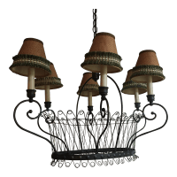 Country Style Kitchen Chandelier | Chairish
