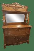 Antique Oak Sideboard Buffet With Mirror Chairish