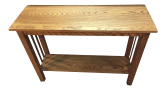 Handmade Reclaimed Oak Mission Style Console