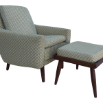 Mid Century Modern Lounge Chair And Ottoman With Teak Chairish