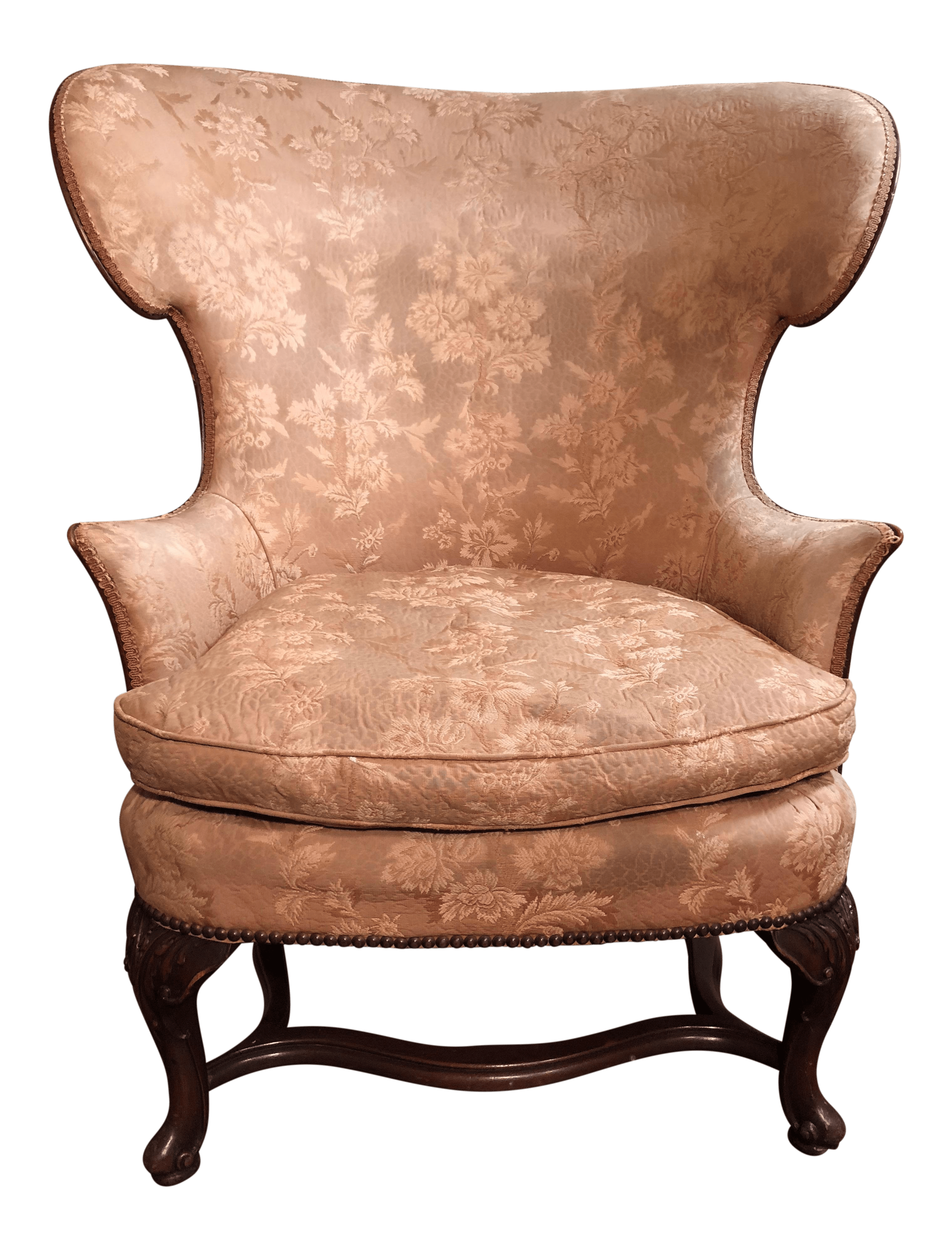 high backed chair home theater room chairs vintage carved back chairish