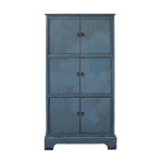 Chinese Distressed Gray Lacquer Narrow 3 Shelves Storage Cabinet Chairish