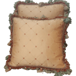 French Bronze And Terracotta Silk And Tassels Throw Pillows A Pair Chairish