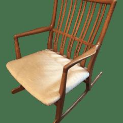 Hans Wegner Rocking Chair Lifetime Plastic Parts Ml33 1960 Chairish