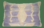 Vintage Turkish Kilim Rug Pillow In Natural Tribal Farmhouse Decor Wool Lumbar Cushion Cover 16 X 24 40 X 60 Cm