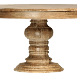Distressed Wood Round Dining Table Chairish