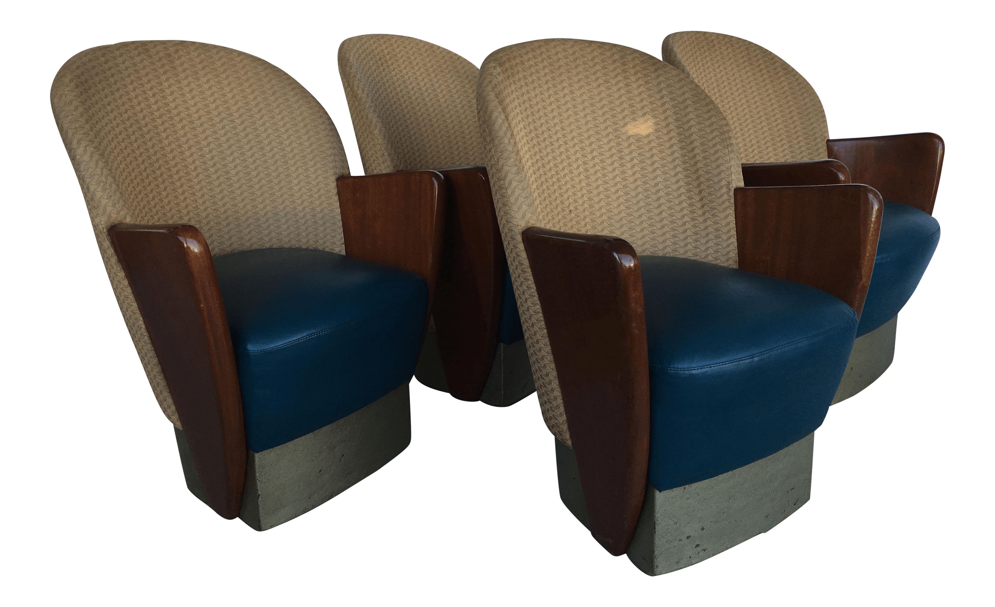 Cool Comfy Chairs Mid Century Art Deco Comfy Chairs Set Of 4