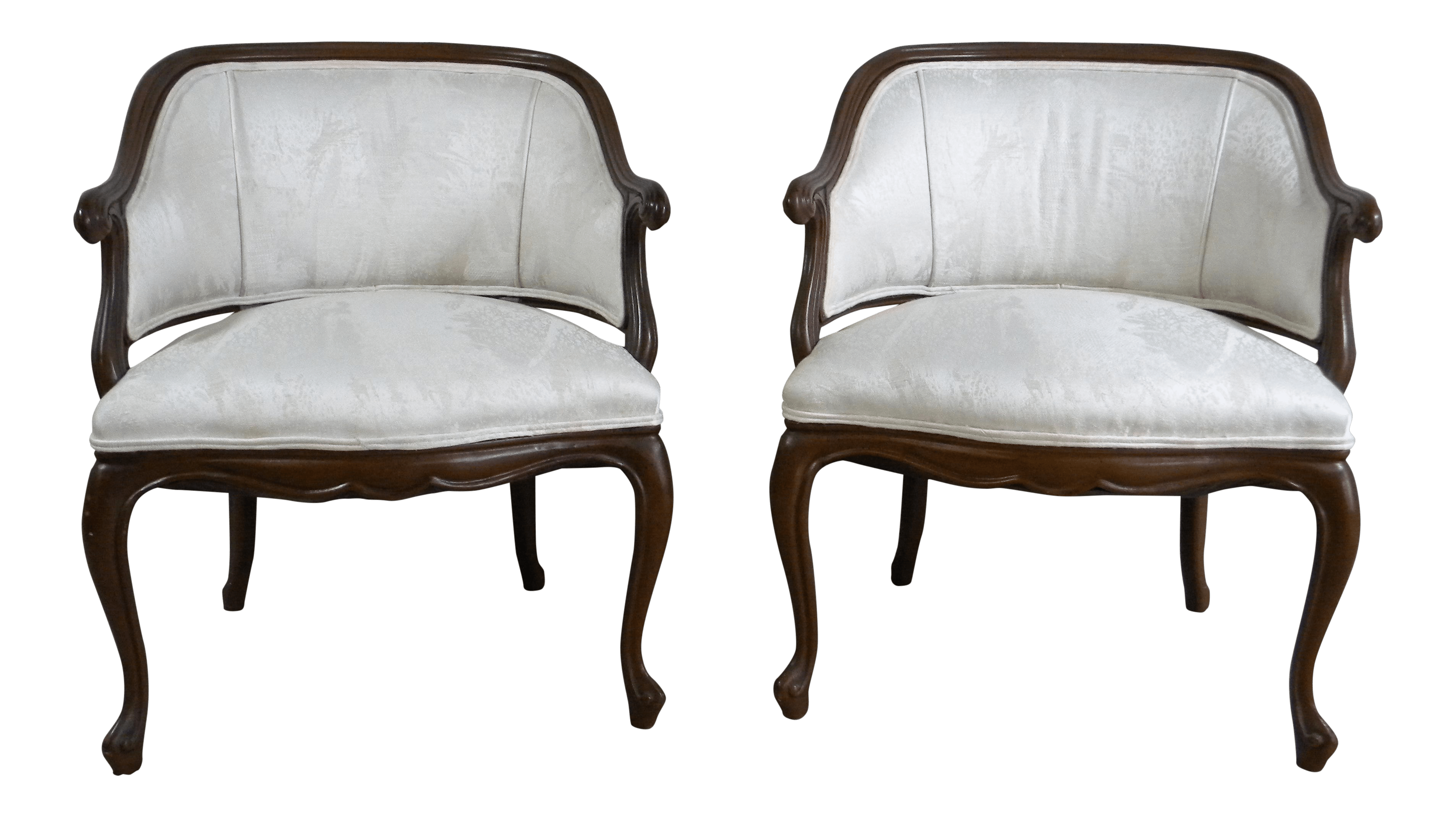 white club chairs chair covers for leather sectionals vintage off a pair chairish
