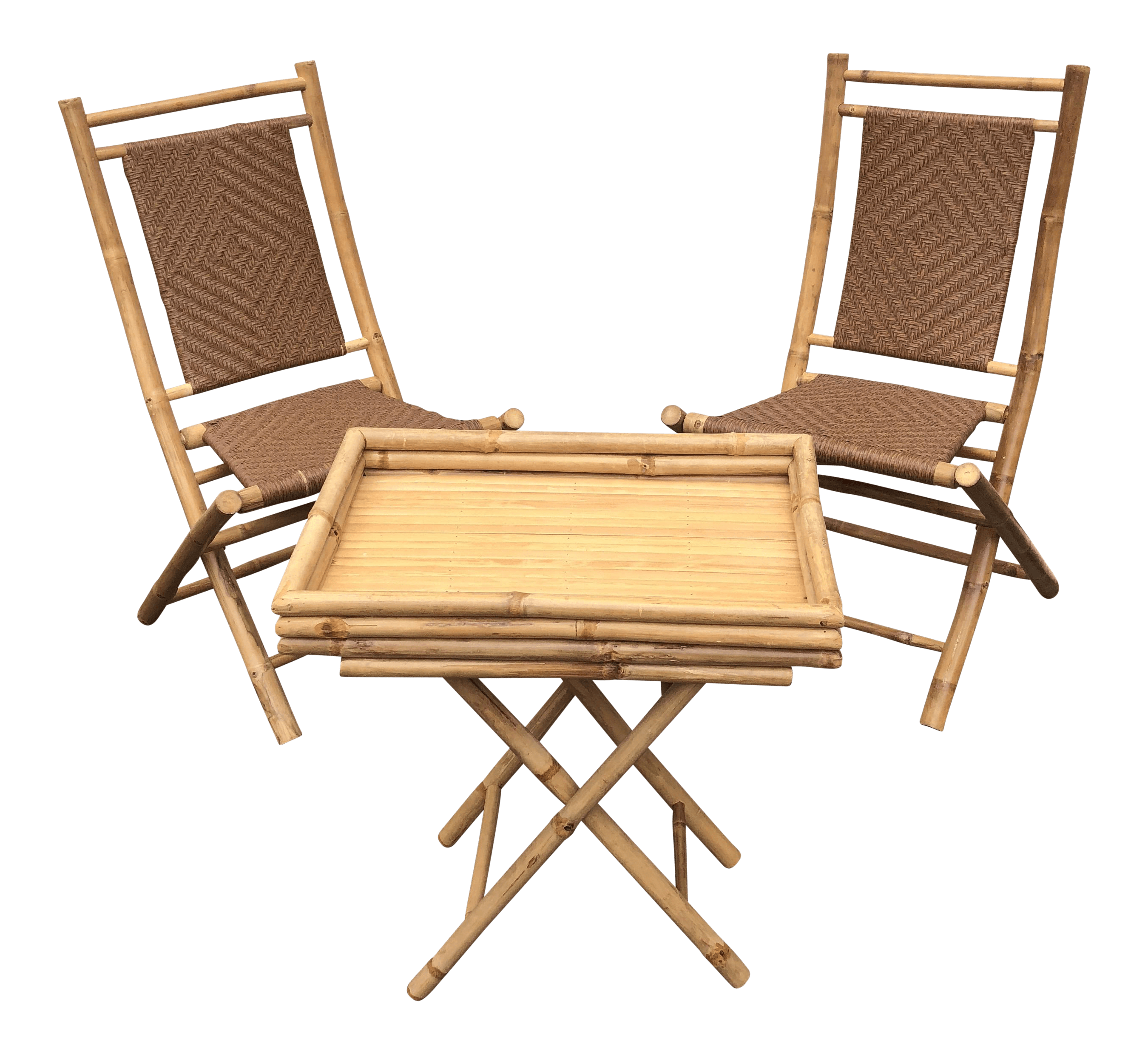 Bamboo Chairs Bamboo Chairs Tray Table Set Of 3
